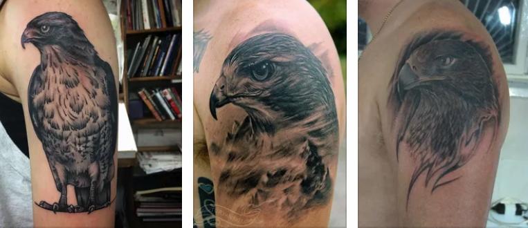 татуировка ястреб